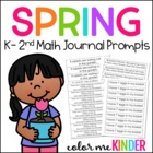 Hop into Spring Math Journal Prompts Common Core Aligned
