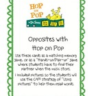 Hop on Pop Opposite Cards for Games