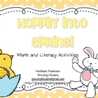 Hoppin&#039; Into Spring! Math and Literacy Activity