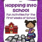 Hopping Into School Fun Activities