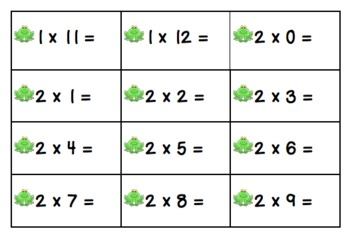 Hopping Through Multiplication Game