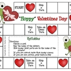 """Hoppy"" Valentine's Day--Syllables Game"