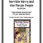 """Horrible Harry and the Purple People"", Comp. Questions/Projects"