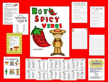 Hot N' Spicy Verbs: A Lesson on Word Choice