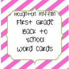 Houghton Mifflin Back to School Word Cards Pink/Green