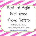 Houghton Mifflin First Grade Pink/Green Theme Posters