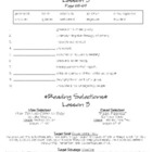 Houghton Mifflin Journeys: Lesson 3 Study Sheet (Grade 4)