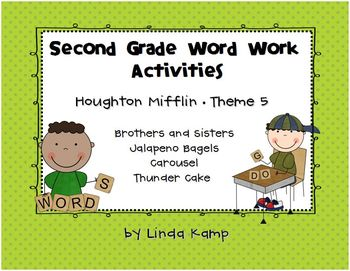Houghton Mifflin Theme 5 Second Grade Word Work