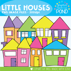 House Shapes - Line Art Clip Art Graphics