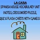 House Vocabulary Lists, Activities, Crossword, Games, and