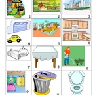 House and Home Pictures to practise speaking skills