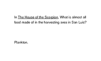 House of the Scorpion by Nancy Farmer  (flash cards)