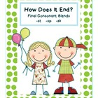 How Does It End: Final Consonant Blends
