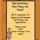 How Many Fall Festivities: Common Core Kindergarten Math Center