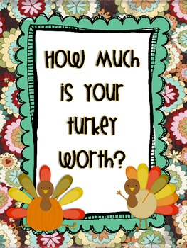 How Much is Your Turkey Worth Geometry and Money activity