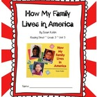 How My Family Lives in America CCSS Comprehension Booklet