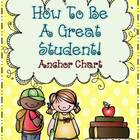 How To Be A Great Student {Anchor Chart} ~ Freebie