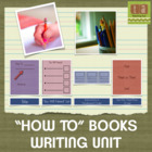 """How To"" Books Writing Paper Using Checklists - Common Core!"