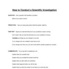 How To Conduct A Scientific Investigation : Step-By-Step Process