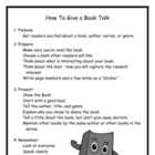 How To Give a Book Talk