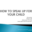 How To Speak Up For Your Child
