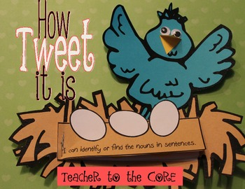 How Tweet it is!  { Nouns Freebie}