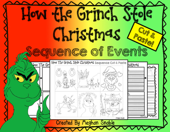 How the Grinch Stole Christmas- Cut & Paste Sequencing/Comprehension Activity!