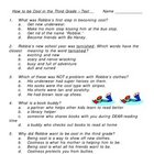 How to Be Cool in the Third Grade Multiple Choice Test