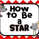 How to Be a Star:  Classroom Rules Posters