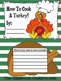 Thanksgiving Turkey Writing Activity {How to Cook a Turkey!}