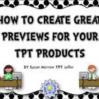 How to Create a Great Preview File For Your TpT Products