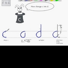 How to Cursive video Letter D