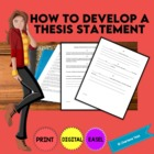 How to Develop a Thesis Statement