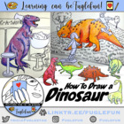 How to Draw a T-Rex Dinosaur PowerPoint Lesson