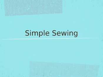 """How to Hand Sew"" PowerPoint"