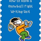How to Have a Snowball Fight Writing Activity