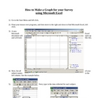 How to Make a Graph Based on a Survey in Microsoft Excel