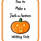 How to Make a Jack-o-lantern Writing Activity