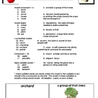 How to Make an Apple Pie... Spelling/Vocabulary List & Activities