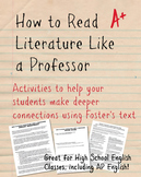 How to Read Literature Like a Professor Worksheet Packet a