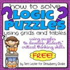 How to Solve LOGIC PUZZLES Using Grids: Increase Critical