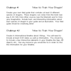 """How to Train Your Dragon"", by C. Cowell, Project Challenges"