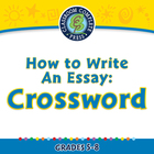 How to Write An Essay: Crossword - NOTEBOOK Gr. 5-8