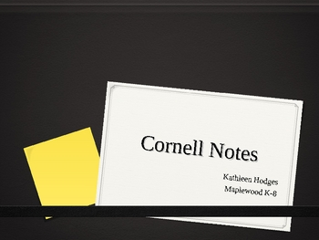 How to Write Cornell Notes Lesson
