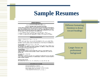How to Write an Awesome Resume - Powerpoint Presentation