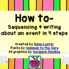 How to- Writing {4 step sequencing}