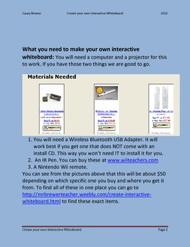 How to create your own Interactive Whiteboard (SMART Board)
