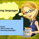 How to teach languages, tips to teach languages