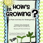 How's it Growing? {Plant Activities for Kindergarten}