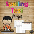 Huge Variety of Pretest and Spelling Test Pages {10 or 12